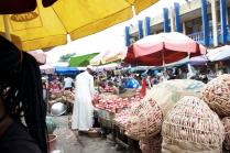 Opposite our onion vendor